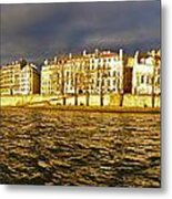 Golden Seine Metal Print