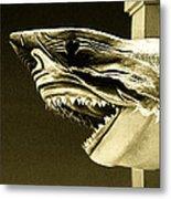 Golden Shark In Ocean City Metal Print