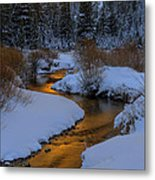 Golden Silence Metal Print