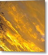 Golden Sky Metal Print