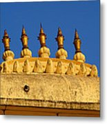 Golden Spires Udaipur City Palace India Metal Print