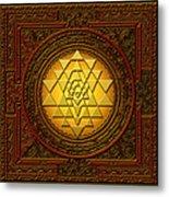 Golden  Sri Lakshmi Yantra Metal Print