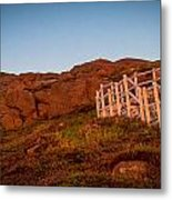 Golden Staircase Metal Print by David Pinsent