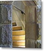 Golden Staircase Metal Print