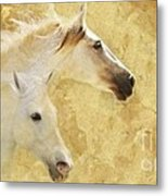 Golden Steeds Metal Print