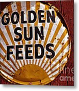 Golden Sun Feeds Metal Print