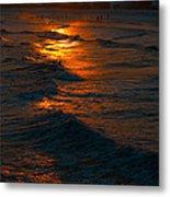 Golden Sun Set Metal Print