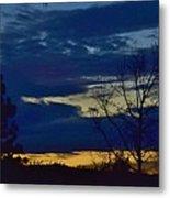 Golden Sunrise Into The Blue Metal Print