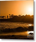 Golden Sunset At Laguna Metal Print