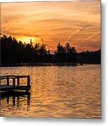 Golden Sunset Lake Horicon Lakehurst Nj Metal Print
