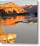 Golden Sunset On The Colorado Metal Print