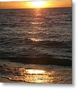 Golden Sunset At Destin Beach Metal Print