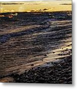 Golden Superior Shore Metal Print