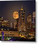 Golden Supermoon Metal Print