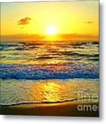 Golden Surprise Sunrise Metal Print