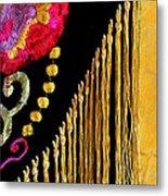 Golden Threads Metal Print
