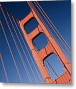 Golden Tower II Lh Metal Print