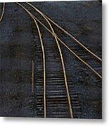 Golden Tracks Metal Print