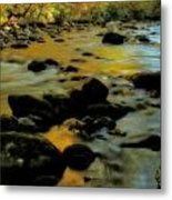 Golden View Of The Little River In Autumn Metal Print by Dan Sproul