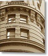 Golden Vintage Building Metal Print