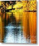 Golden Water Metal Print
