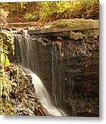 Golden Waterfall October In Ohio Metal Print