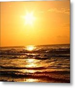 Golden Waves Metal Print