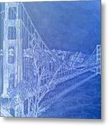 Golder Gate Bridge Inverted Metal Print
