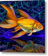 Goldfish Electric Metal Print