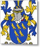Golding Coat Of Arms Irish Metal Print