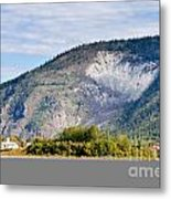 Goldrush Town Dawson City From Yukon River Canada Metal Print