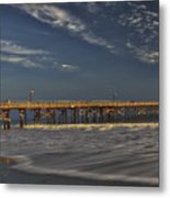 Goleta Beach And Pier Metal Print