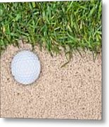 Golf Ball Metal Print