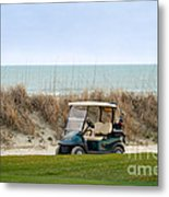 Golf Cart At Kiawah Island Golf Course Metal Print