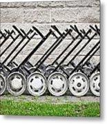 Golf Carts Metal Print