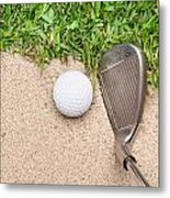 Golf Club And Ball Metal Print
