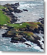 Golf Course On An Island, Pebble Beach Metal Print