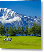 Golf Course Riederalp Swiss Alps Switzerland Metal Print