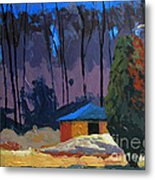 Golf Course Shed Series No.2 Metal Print by Charlie Spear