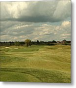 Golf Course With Clouds Metal Print