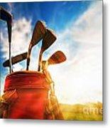 Golf Equipment  Metal Print