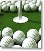 Golf Hole Assault Metal Print by Allan Swart