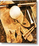 Golf Memorabilia Metal Print