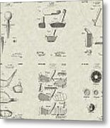 Golf Patent Collection Metal Print