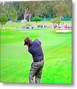 Golf Swing Drive Metal Print