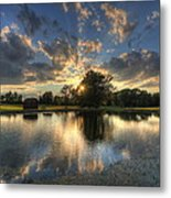 Golfcourse Sunset Metal Print