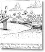 Golfing Through A Warzone Metal Print