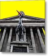 Goma Pop Art Yellow Metal Print