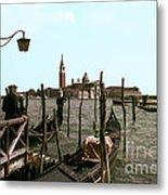 Gondola Dock Metal Print