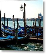 Gondolas At Rest Metal Print